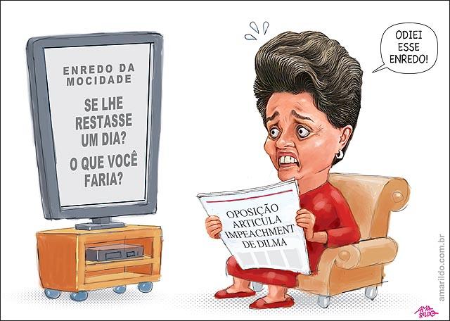 Dilma Impeachment Carnaval enredo mocidade o que voce faria se lhe restasse um dia TV jornal