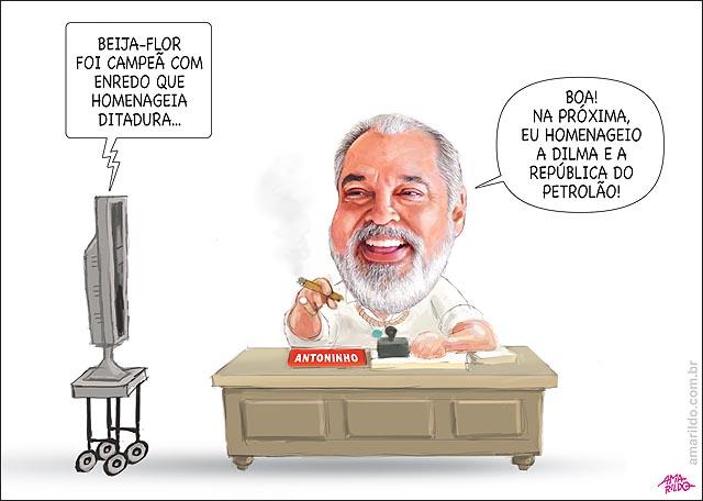 Carnaval Beija flor campea homenageia ditador novela homenagem lula dilma