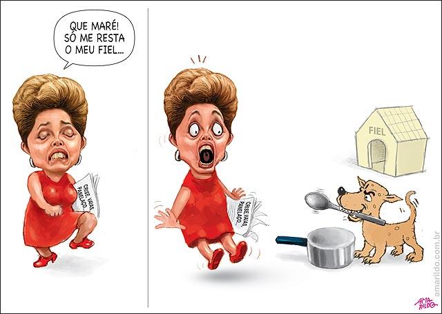 Dilma susto Rejeicao cachorro bate panela colher protesto