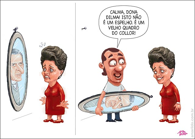 Dilma espelho quadro collor empregada impeachment protestos