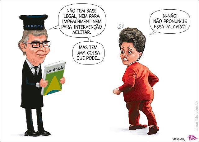 Dilma Renuncia jurista impeachment nao pode militar nao Janio quadros voltando