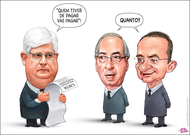 Rodrigo Janot Lista politicos envolvidos escandalo petrobras propina