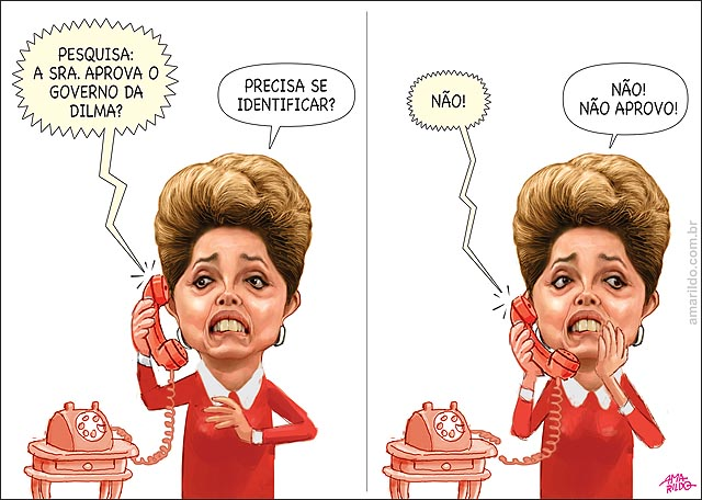 Dilma telefone responde pesquisa aprovação queda