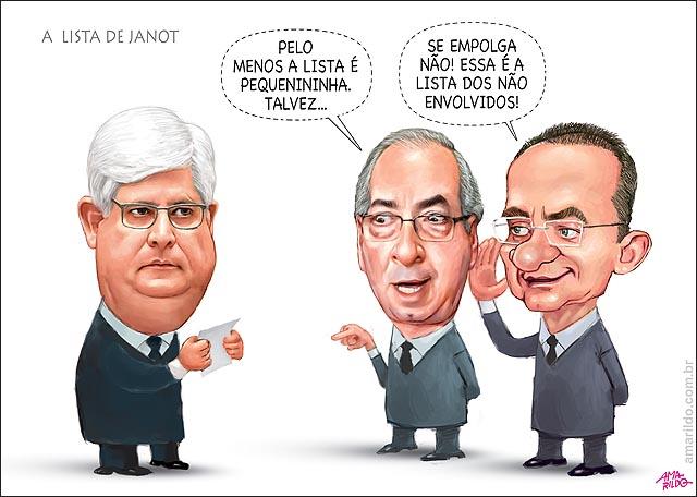 Rodrigo Janot Lista pequena nao envolvidos nao envolvidos Renan Cunha politicos envolvidos escandalo petrobras propina