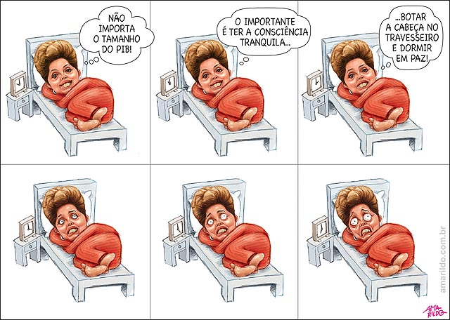 Pib Pequeno Dilma insonia relogio cama