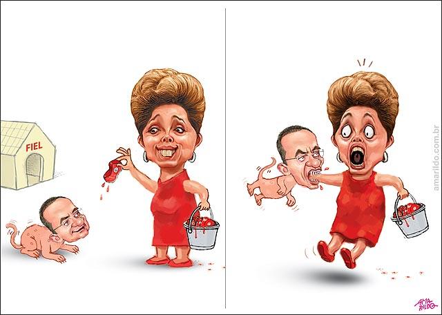Dilma carne cachorro Renan pmdb mOrde braco dela