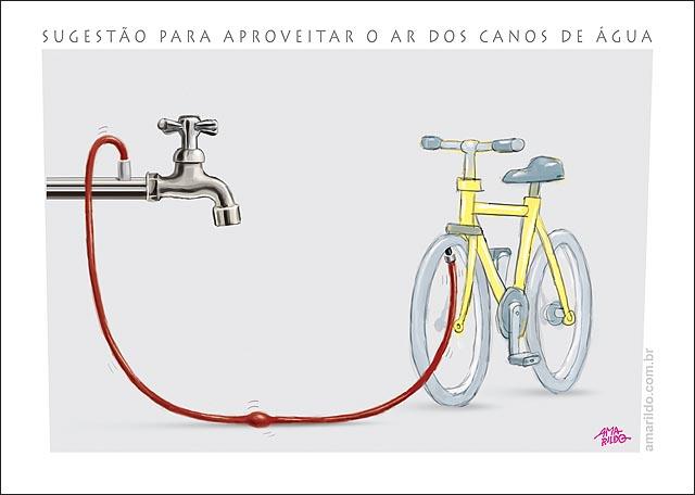 Agua c Ar Torneira calibrar Bicicleta