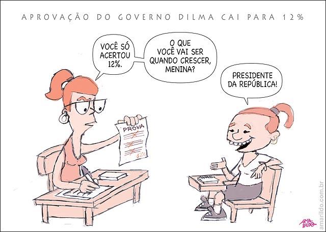 Dilma 12 pd de aprovacao rejeicao pesquisa popularidade