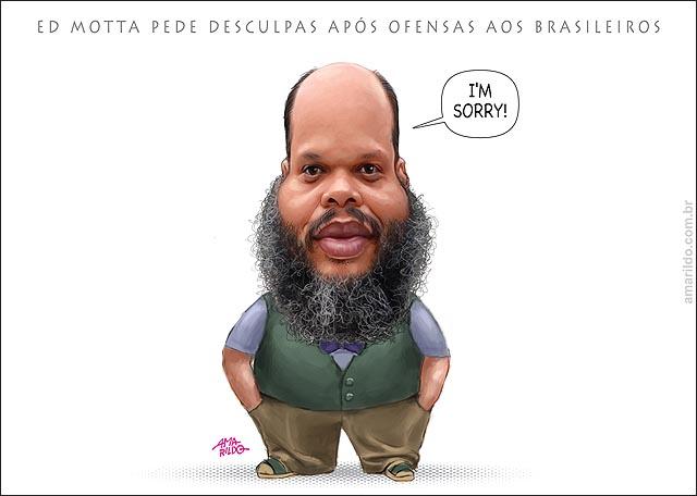 ED MOTTA PEDE DESCULPAS APOS OFENSAS AOS BRASILEIROS em ingles ecuse-me