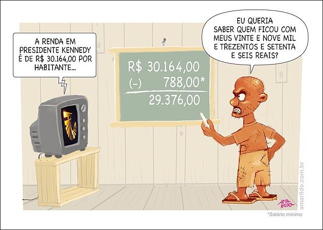 Presidente Kennedy arrecadacao por cabeca 30 mil menos 788 reais quem ficou com minha parte