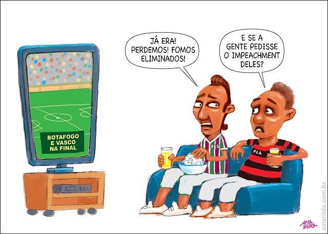 Vasco e Botafogo Cna final Flamengo e Fluminense eliminados pedem impeachment