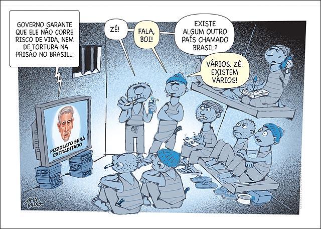Pizzolato Cadeia preso pregunta se existe outro brasil