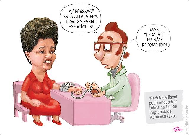 Dilma Pedalada fiscal medico recomenda andar corer nao pedalar bicicleta