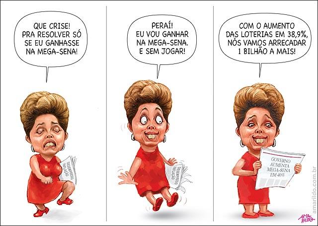 Dilma aumenta megasena para ganhar 1 bilhao e aumentar arrecadacao andando B