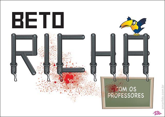Beto Richa Psdb Policia Bate professores parana Cassetete faz nome