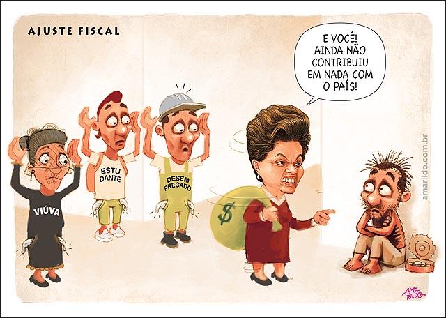 Ajuste fiscal Dilma Viuva estudante aposentado Mendigo soco de dinheiro nas costas