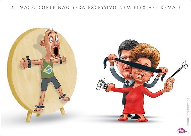Dilma levy corte no orcamento atirador de facas olho tapado tesouras B