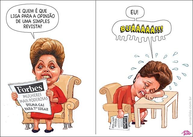 Dilma cai para setima no ranking da revista forbes e chora