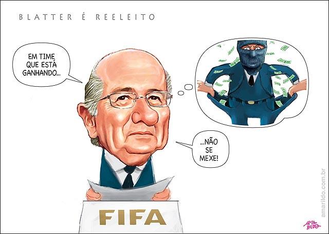 BLatter reeleito FIFA em time que esta ganhando nao se mexe pensa dinheiro 2