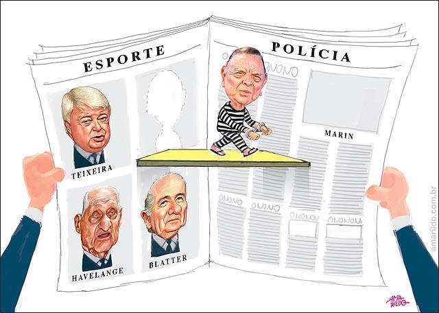Fifa Corrupcao Marim muda de pagina de esportes para policia jornal lendo