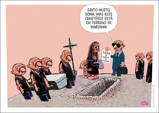 Taxa de Terreno de Marinha Enterro viuva cemiterio no terreno de marinha Taxa Multa
