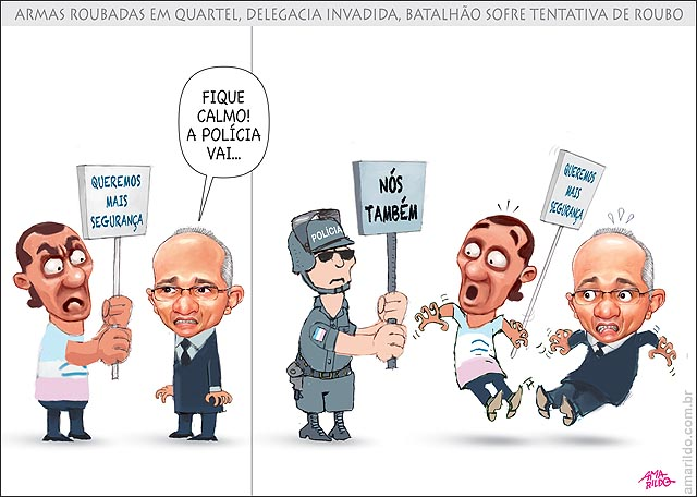Policia assaltada no ES Protesto placa mais seguranca governador assusta policial com placa