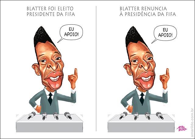 Pele apoia Blatter eleito presidente da fifa e renuncia