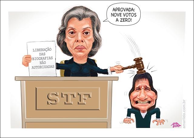Biografias Carmen Lucia STF aprova biografia nao autorizada Roberto carlos marteladas Juiz