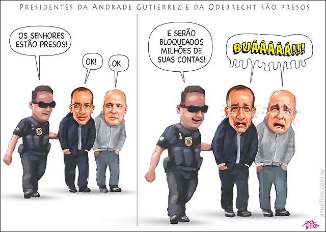 Presos presidentes da Odebrecht e da Andrade Gutierrez na lava jato