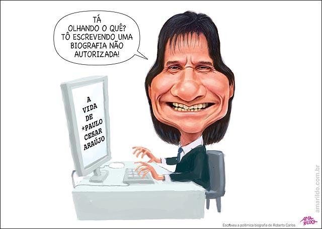 Roberto carlos computador escrevendo biografia nao autorizada do paulo cesar araujo
