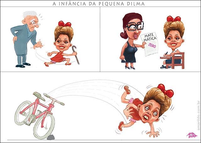 Infancia de dilma crianca chuta avo zero matematica cai de bicicleta