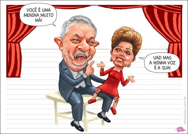 Dilma fontoche Ventriloquo marionete Lula desobedece