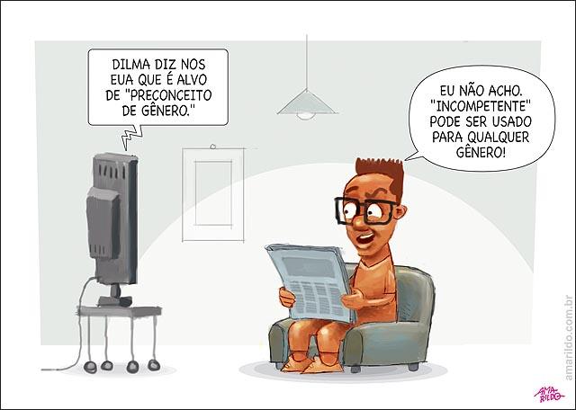 Dilma diz a jornal dos EUA que é alvo de preconceito de genero