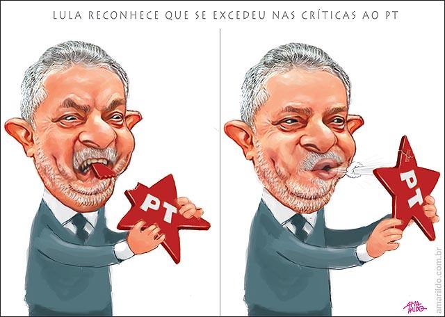 Lula morde Estrela PT e Sopra criticas partido