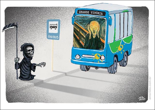 Onibus assalto morte ponto o grito munch passageiros motorista