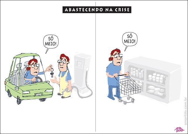 ABASTECENDO OS CARROS NA CRISE gasolina supermercado