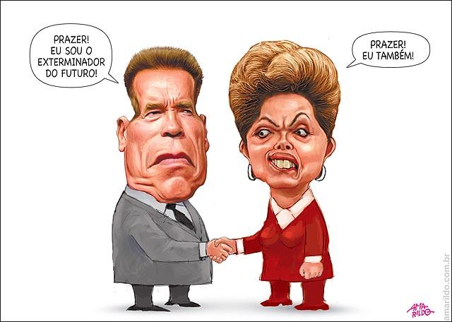 Arnold Schwarzenegger Exterminador do futuro congresso Dilma eu tambem