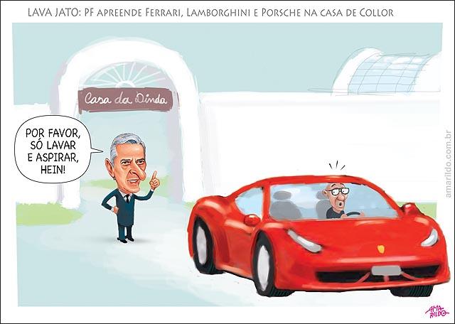 PF apreende Ferrari Lamborghini e Porsche na casa de Collor no DF Lava Jato depois me tragam bem limpinhas