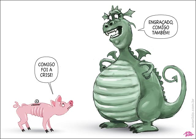 Inflacao gorda obesa poupanca magra anorexica porco dragao