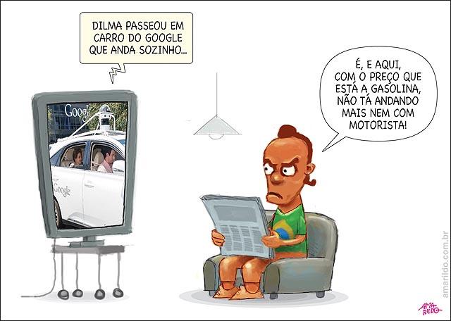 Dilma passeia em carro que anda sozinho tv jornal no brasil nem com motorista gasolina