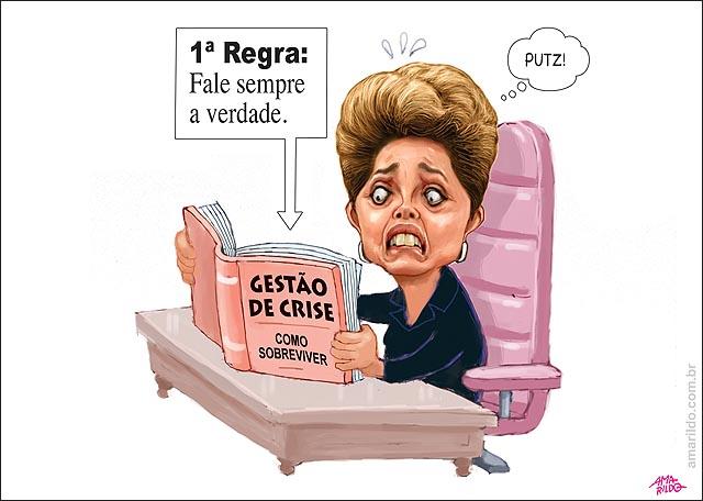 Dilma Livro gestao de crise fala a verdade mesa cadeira presidente
