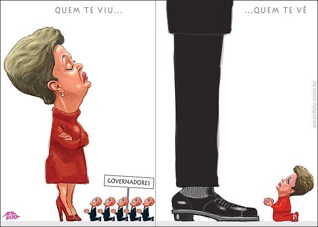 Dilma desdem arrogante x dilma de joelhos p governadores apoio esmola