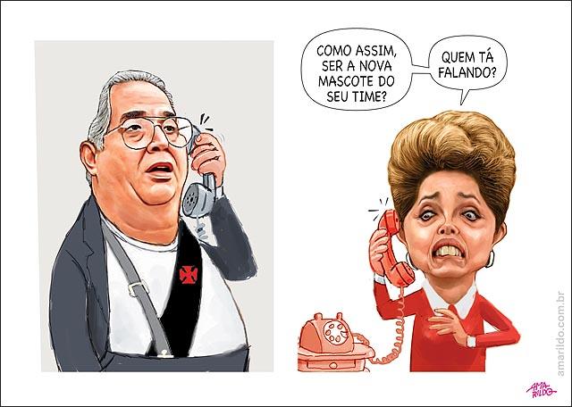 Eurico Miranda liga para dilma ser nova mascote do vasco