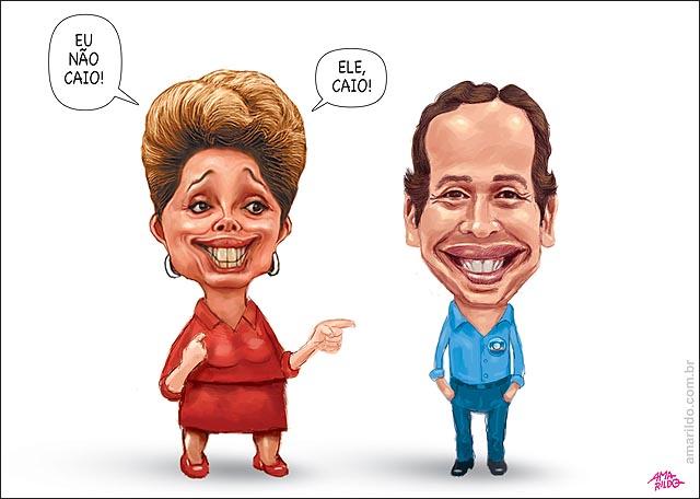 Dilma eu nao caio ribeiro da Globo comentarista