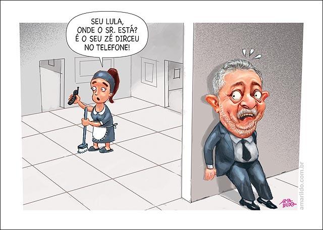 Ze dirceu preso Lula escondido recebe telefonema empregada celular