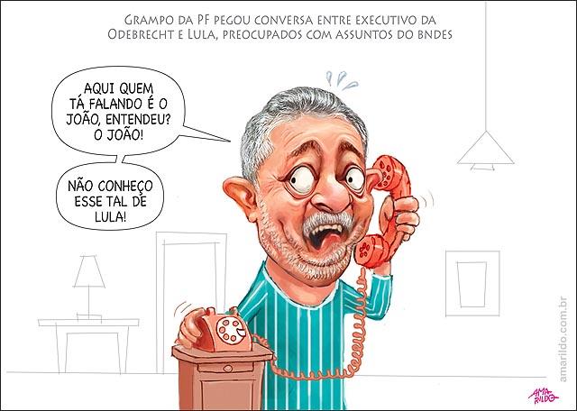 Grampo da PF conversa entre executivo da Odebrecht e o ex-presidente Lula telefone celular lava jato
