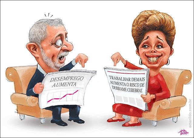 Dilma jornal Lula Jornal Desemprego aumenta trabalhar muito aumenta risco de derrame B