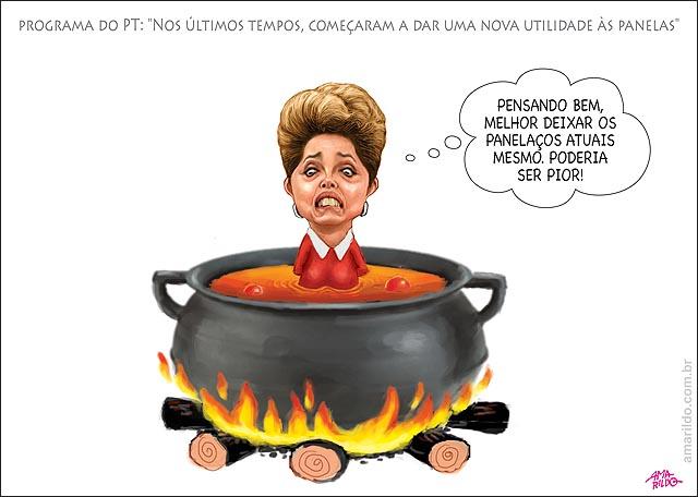 Programa eleitoral PT dilma Jose de abreu Lula Panelaco panel dilma dentro fogo