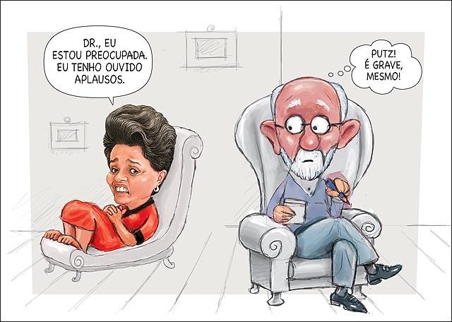Dilma psicanalista freud esta ouvindo aplausos crise e grave