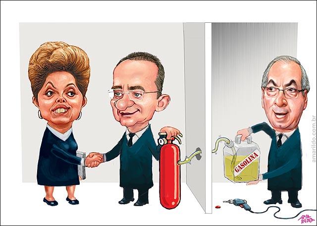Dilma acorde renan extintor cunha gasolina congresso fogo incendio